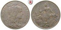 5 Centimes 1905 Frankreich III. Republik, 1871-1940 ss  30,00 EUR  +  10,00 EUR shipping