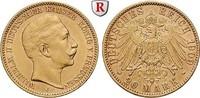 20 Mark 1909 J Preussen Wilhelm II., 1888-1918, 20 Mark 1909, J. Gold. ... 415,00 EUR  +  10,00 EUR shipping