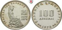 100 Drachmen 1976 Griechenland Republik, seit 1973 PP  140,00 EUR  +  10,00 EUR shipping