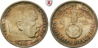 Klein- und Kursmünzen 5 Reichsmark 5 Reichsmark 1939, E. Hindenburg mit Hakenkreuz. J.367.