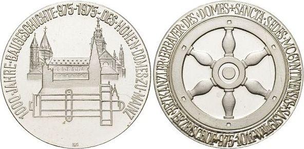 Medaille 1975 Mainz-Stadt Selten, Stempelglanz