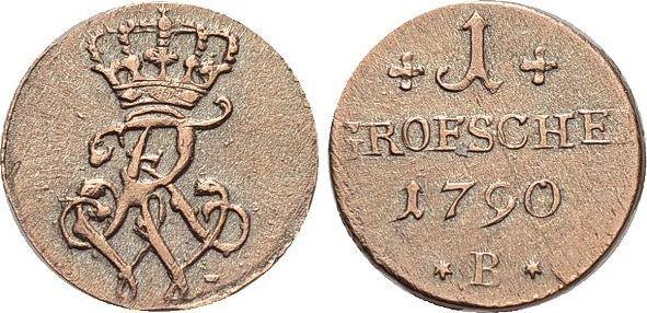 Groeschel 1790 B Brandenburg-Preussen Friedrich Wilhelm II. 1786-1797. sehr schön - vorzüglich