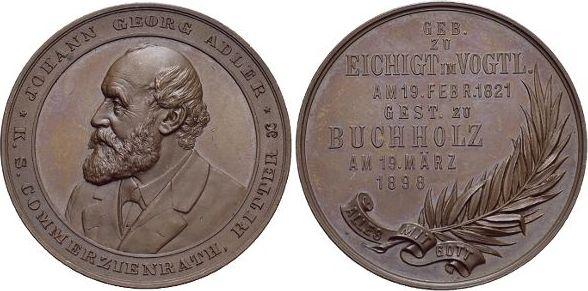 Bronze 1898 Sachsen-Buchholz vorzüglich - Stempelglanz