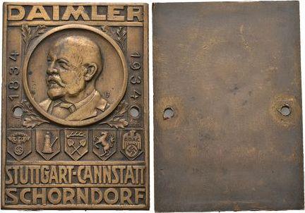 Bronze 1934 Württemberg-Stuttgart, Stadt 2 kl.Befestigungslöcher, fast vorzüglich