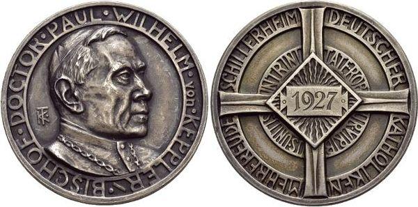 Medaille 1927 Württemberg-Rottenburg, Stadt Schöne Patina, vorzüglich