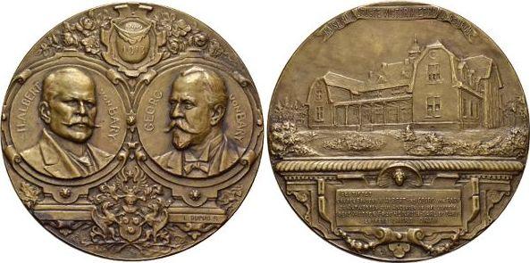 Bronze-Medaille 1913 Wuppertal-Elberfeld, Stadt Selten, vorzüglich