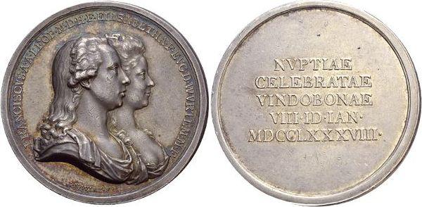 AR-Medaille 1788 Württemberg Elisabeth, Tochter Friedrich Eugens 1767-1797. Min.Kr., selten, vorzüglich