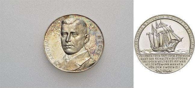 AR-Medaille 1915 Erster Weltkrieg Winz.Kr., feine Patina, selten, fast Stempelglanz