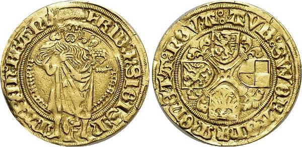 Goldgulden 1486-1495 Brandenburg-Franken Friedrich und Sigismund von Kulmbach 1486-1495. Winz.Schrötlingsrisse, sehr schön - vorzüglich