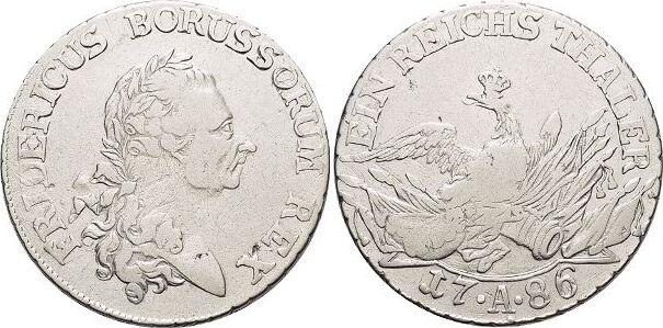 Sterbetaler 1786 A Brandenburg-Preussen Friedrich II. 1740-1786, Münzstätte Berlin. Min.Sf., sehr schön
