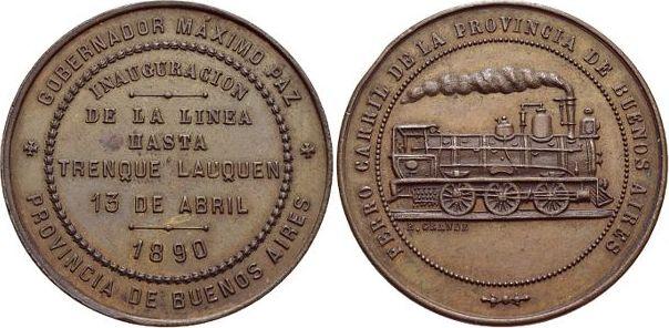 Bronze 1890 Argentinien Kl, Rf., vorzüglich