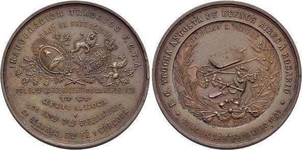 Bronze 1901 Argentinien Etwas.fleckig, kl.Rf., selten, sehr schön - vorzüglich