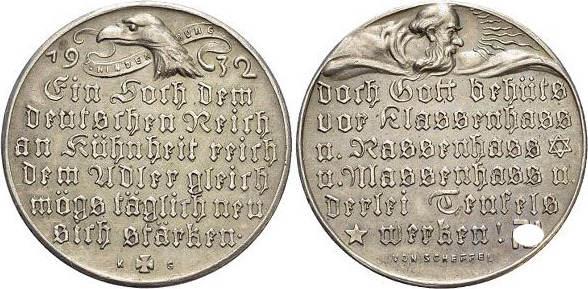 AR-Medaille 1932 Medaillen von Karl Goetz 1875 bis 1950 Selten, vorzüglich