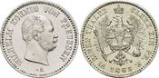 1/6 Taler 1863  A Brandenburg-Preussen Wilhelm I. 1861-1888. Kl.prägebedingte Rf., winz.Kr., fast Stempelglanz
