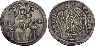 2 Soldi  Italien-Pisa Grosso zu 2 Soldi o.Jahr (13.Jahrhundert). Selten, sehr schön +