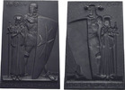 Eisenguss Einseitige Eisenguss-Neujahrsplakette Lauchhammer