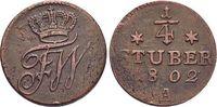 Brandenburg-Preussen CU-1/4 Stüber 1 Friedrich Wilhelm III. 1797-1840.