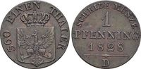 Brandenburg-Preussen CU-Pfennig Friedrich Wilhelm III. 1797-1840.