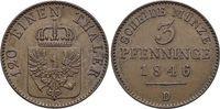 Brandenburg-Preussen CU-3 Pfennig Friedrich Wilhelm IV. 1840-1861.