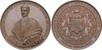 Schwarzenberg-Fürstentum Bronze-Medaille Friedrich 1809-1885, Kardinal, Erzbischof von Prag, Primas von Böhmen.