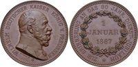Brandenburg-Preussen Bronze-Medaille Wilhelm I. 1861-1888.