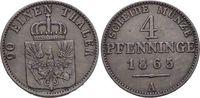 Brandenburg-Preussen CU-4 Pfennig Wilhelm I. 1861-1888.