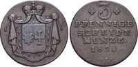 Waldeck CU-3 Pfennig Georg Heinrich 1813-1845.