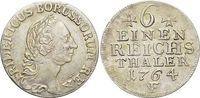 Brandenburg-Preussen 1/6 Taler Friedrich II. 1740-1786, Münzstätte Magdeburg.