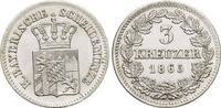 Bayern 3 Kreuzer Ludwig II. 1864-1886.