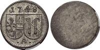 Salzburg-Erzbistum Einseitiger Pfennig Andreas Jakob von Dietrichstein 1747-1753.