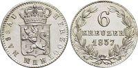 6 Kreuzer 1837 Nassau Wilhelm 1816-1839. f...