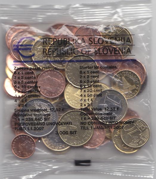 1252 Euro Dif Slovenia Starterkit Unc Ma Shops