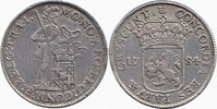 Silver Ducat 1784 Netherlands / Province Utrecht Knight standing behind... 175,00 EUR  +  10,00 EUR shipping