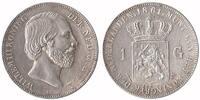 1 Guilder 1861 Netherlands Willem III 1849 - 1890 Extremely Fine / Unc  149,50 EUR  +  10,00 EUR shipping