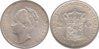 2½ Guilder 1940 Netherlands Wilhelmina 1890 - 1948 Extremely Fine  59,50 EUR  +  10,00 EUR shipping