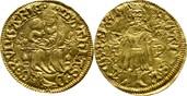 Goldgulden o.J. 1471-1481 Ungarn Matthias Corvinus, 1458-1490 Doppelschlag, ss