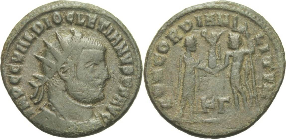 RÖMISCHE KAISERZEIT Antoninian 287-289 n.Chr. Lugdunum