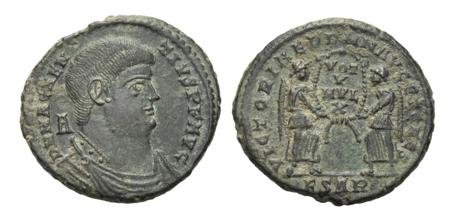 Follis 350 - 353 RÖMISCHE KAISERZEIT Magnentius, 350 - 353 SUP-