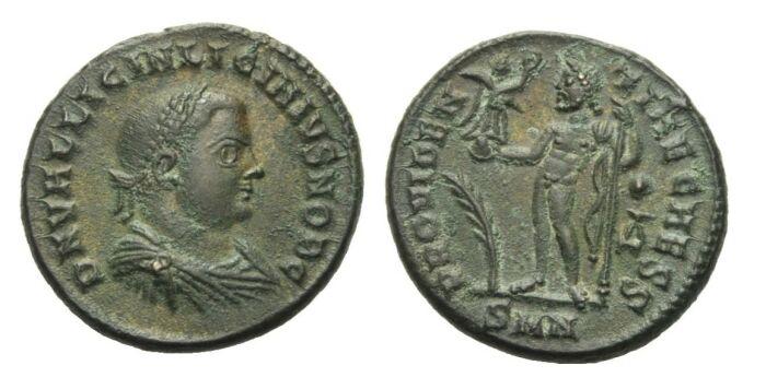 Follis 317 - 320 RÖMISCHE KAISERZEIT Licinius II., 317 - 324. Vorzüglich