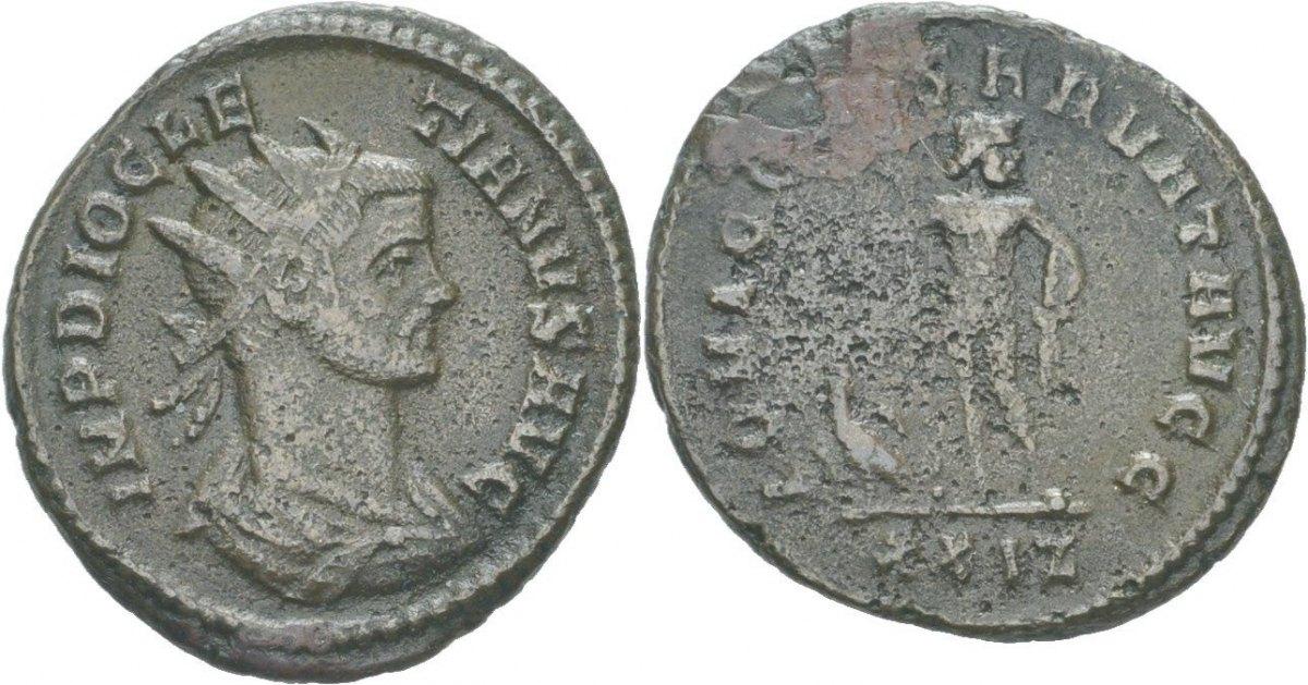 RÖMISCHE KAISERZEIT Tripolis Antoninian 285 Diocletian
