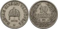 Austria Ungarn Kremnitz 10 Filler Franz Joseph, 1848-1916.