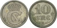 Dänemark 10 Öre Christian X., 1912-44