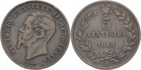 Italien 5 Centesimi Vittorio Emmanuele II.