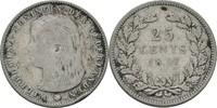 Niederlande 25 Cents Wilhelmina I., 1890-1948