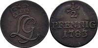 Sachwarzburg Rudolstadt 1/2 Pfennig Ludwig Günther II. 1767-1790