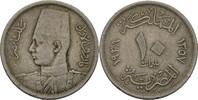 Ägypten 10 Milliemes Farouk, 1936-52