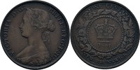 1 Cent 1861 Kanada - Neubraunschweig Victoria, 1837-1901 ss kl. Kratzer  15,00 EUR  +  3,00 EUR shipping