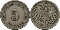 5 Pfennig 1909 E Kaiserreich Wilhelm II., 1888-1918 ss  5,00 EUR  +  3,00 EUR shipping