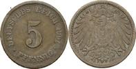 5 Pfennig 1901 F Kaiserreich Wilhelm II., 1888-1918 ss  3,00 EUR  +  3,00 EUR shipping