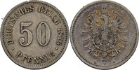 50 Pfennig 1876 B Kaiserreich Wilhelm I., 1861-88 ss kl. Randfehler  25,00 EUR  +  3,00 EUR shipping